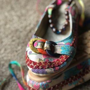 xiruyi Shoes - Beaded strap slip-on flats